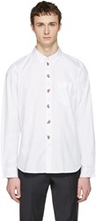 Paul Smith Ps By White Embroidered Tailored Shirt