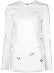 Nomia Eyelet Detail Top White