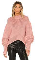 C Meo Collective Hold Tight Knit Sweater In Pink.