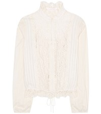 See By Chloe Lace Panelled Blouse White