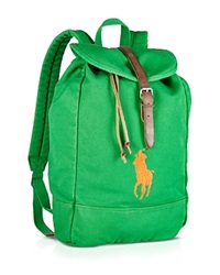 Ralph Lauren Canvas Backpack Bermuda Green Orange