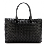 Bottega Veneta Brick Intrecciato Leather Tote Nero Brunit