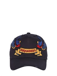 Dsquared2 Bird Patches Canvas Baseball Hat