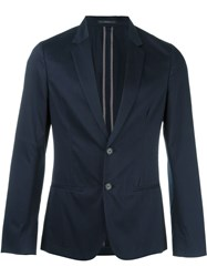 Paul Smith London Fitted Single Breasted Two Button Blazer Blue
