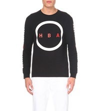 Hood By Air Detroit Cotton Jersey Top Black
