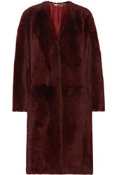 Karl Donoghue Reversible Shearling Coat Merlot
