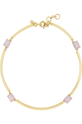 J.Crew Gold Tone Crystal Necklace