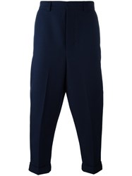 Ami Alexandre Mattiussi Oversize Carrot Fit Trousers Blue