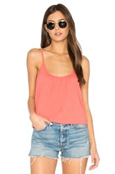 Chaser Cross Back Shirred Cami Coral
