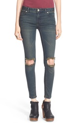 Free People Destroyed Skinny Jeans Patsy