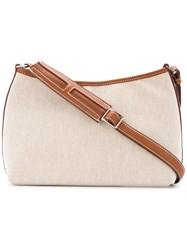 Hermes Vintage Berlingo Shoulder Bag Nude And Neutrals
