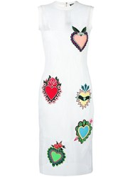 House Of Holland Heart Midi Dress White