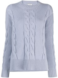 Peserico Cable Knit Sweater Blue