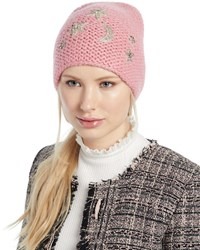 d6540c5abe7e0 Jennifer Behr Galexia Stars And Moon Embellished Beanie Hat Pink