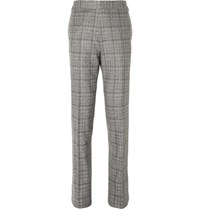 Kingsman Grey Checked Wool Suit Trousers Gray