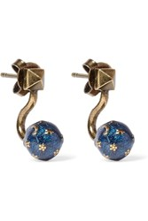 Valentino Cosmic Planet Gold Tone Earrings Gold Blush