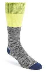 Mr Gray Mr. Gray Cotton Blend Socks Neon Green