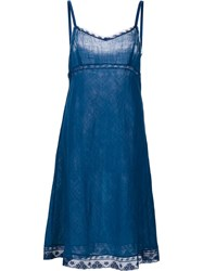 Dosa 'Kymber' Slip Dress Blue