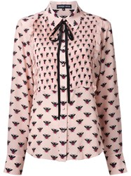 Markus Lupfer Bee Allover Print Shirt Pink Purple