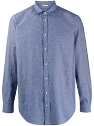 Massimo Alba Chambray Long Sleeve Shirt 60