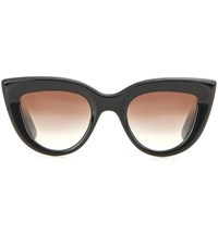 Ellery Quixote Cat Eye Sunglasses Black