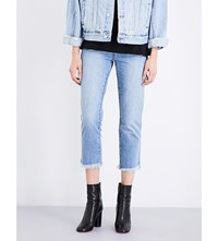 Ksubi Straight N Narrow Straight Mid Rise Jeans Bail Out Blue