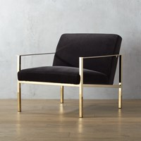 Cb2 Cue Chair With Brass Legs