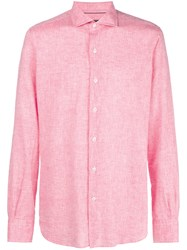Orian Plain Button Down Shirt Pink And Purple