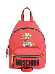 Moschino Mini Teddy Printed Pvc Backpack Black