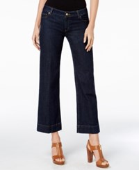 Michael Kors Indigo Wash Cropped Wide Leg Jeans