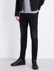 Calvin Klein Skinny Tapered Mid Rise Jeans Blackout