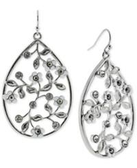 2028 Silver Tone Floral Vine Drop Earrings