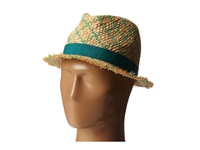 Bcbgmaxazria Checked Fedora Hat Malachite Fedora Hats Green