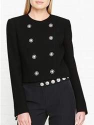 Versus By Versace Lion Detail Double Breasted Jacket Black