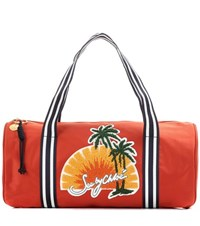 See By Chloe Appliqued Gym Bag Orange