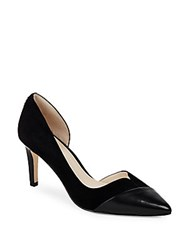 Cole Haan Point Toe Leather D'orsay Pumps Black
