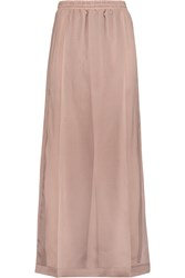 Brunello Cucinelli Silk Organza Maxi Skirt Brown
