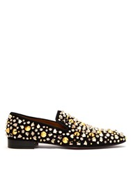 Christian Louboutin Dandelion Spikes Suede Loafers Black
