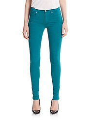 Joe's Jeans Mid Rise Skinny Jeans Teal