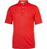 Kjus Golf Shelter Dwr Coated Pique Polo Shirt Red