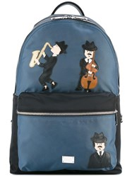 Dolce And Gabbana Volcano Sicilian Musician's Patch Backpack Black