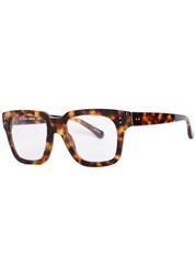 Linda Farrow Tortoiseshell Square Frame Optical Glasses