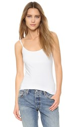 Splendid Cami Tank With Bra White