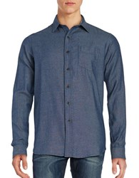 Tailor Vintage Long Sleeve Cotton Sportshirt Indigo