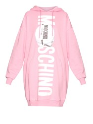 Moschino Printed Logo Oversized Hooded Sweater Dress