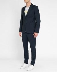 Kenzo Navy K Fit Caviar 2 Button Suit