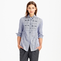 J.Crew Collection Jeweled Bib Shirt