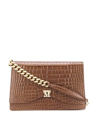 Max Mara Crocodile Effect Shoulder Bag 60