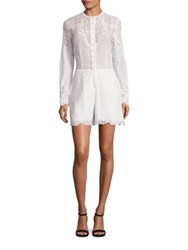 Yigal Azrouel Embroidered Cotton Romper Optic