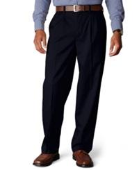 Dockers D4 Relaxed Fit Signature Khaki Pleated Pants Navy